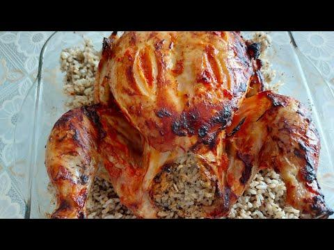 İç Pilavlı Tavuk Dolması/ Fırında Tavuk Dolma