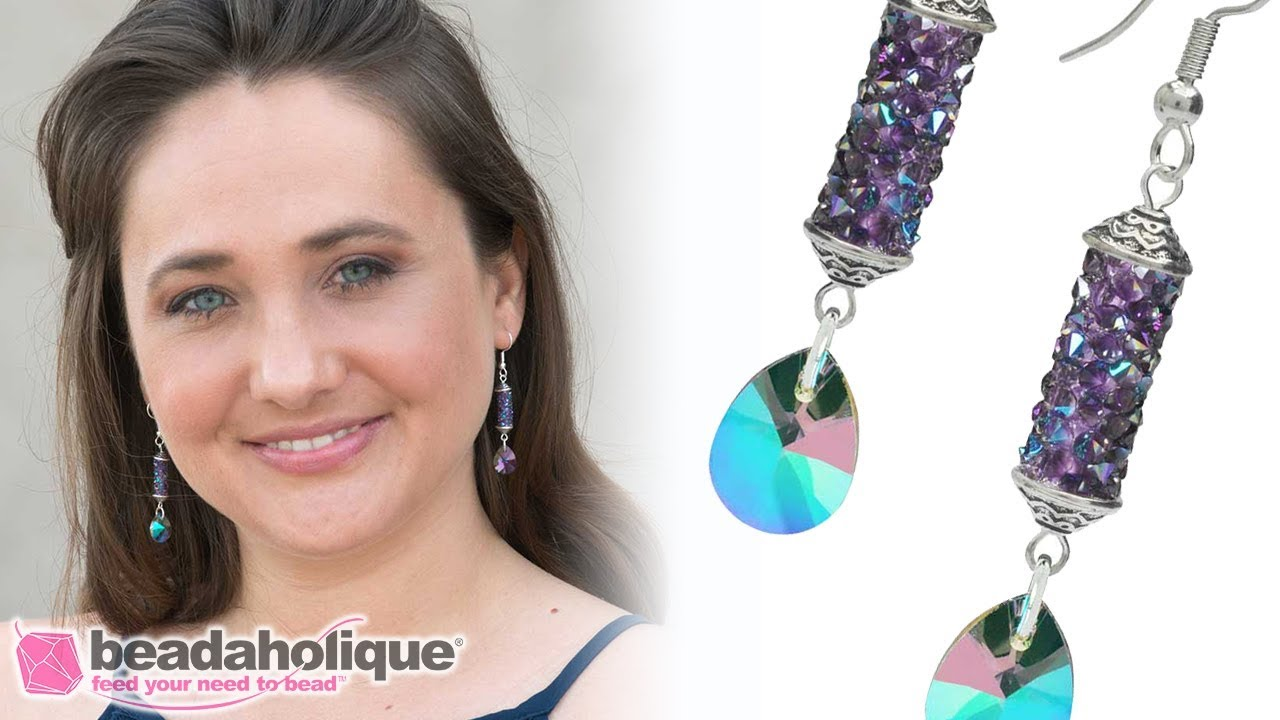 How To Make A Pair Of Earrings With Swarovski Crystal Fine Rock S
