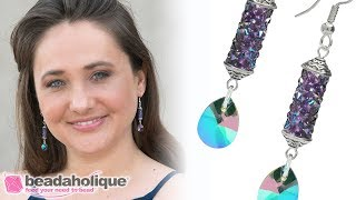 How to Make a Pair of Earrings with Swarovski Crystal Fine Rock Tubes
