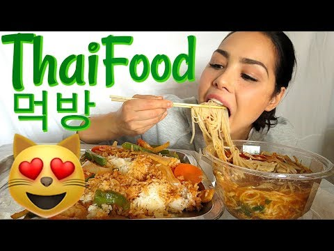 Red Curry, Spicy Tom Yum & Spring Roll 먹방 Thai Food Mukbang