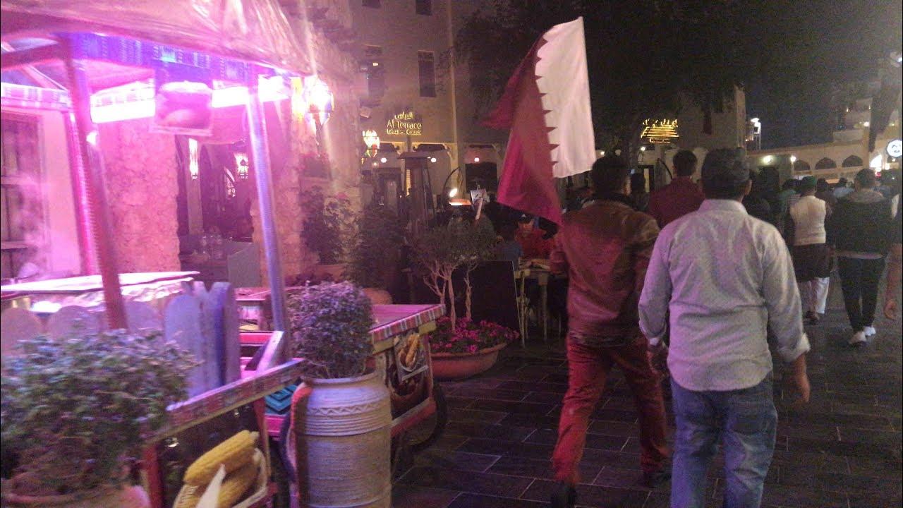5c08df27d اجواء فرحة الشعب القطري من داخل الدوحة -سوق واقف - الكورنيش - ليلة الفوز  بكأس اسيا 2019