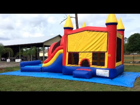 Deliver the 5 in 1 combo bounce house with horses and a ...