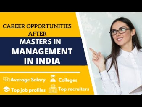 Career Opportunities After Master In Management In India | MiM-Essay