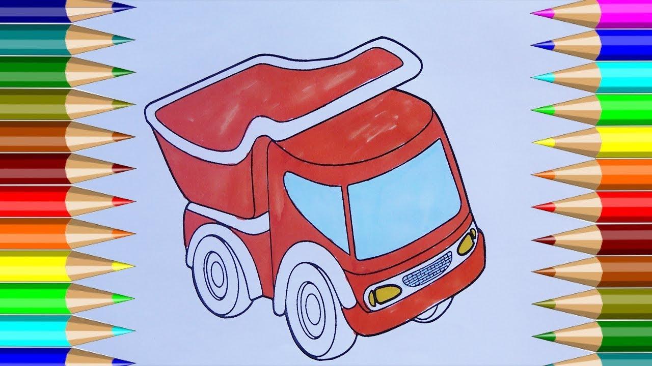 De coches de juguete para colorear | Cómo dibujar un camión de ...