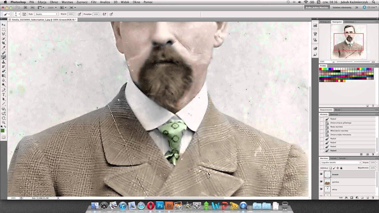 Kolorowanie Czarno Białych Zdjęć W Photoshopie Wideoporadnik Youtube