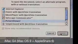 | Legacy AppleShare | 512Ke - iMac G4 |
