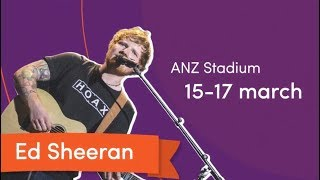 Ed Sheeran, Bruno Mars & Luke Bryan at Sydney Olympic Park