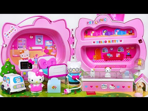 Hello Kitty Pet Clinic Toys Play! Wash And Treat Pets~ #PinkyPopTOY