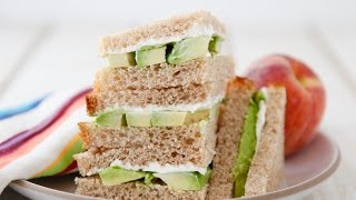 Avocado Cream Cheese Sandwiches - Healthy School Lunch - Weelicious