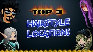 TOP 3 ✰ HAIRSTYLE LOCATIONS IN AQW 2016