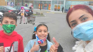 Shopping for Halloween Costumes with HZHtube Family Vlogs