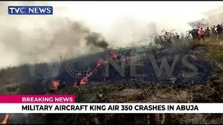 Military Aircraft King Air 350 Crashes In Abuja