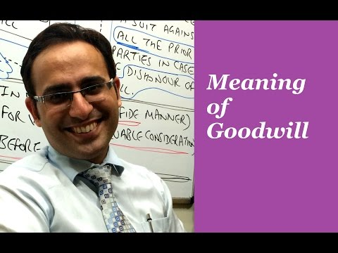 Meaning Of Goodwill