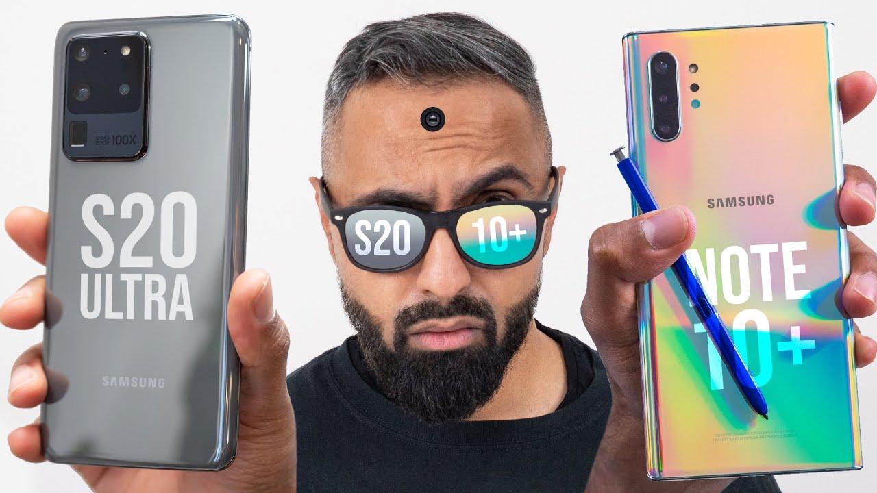 Samsung Galaxy S20 Ultra vs Galaxy Note 10 Plus