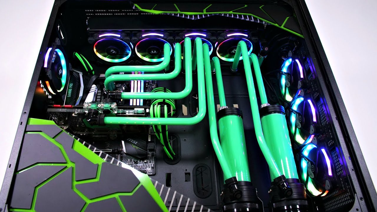 Liquid Cooled Pc >> Project Envy The Biggest Ultimate Custom Water Cooled Pc Build Time Lapse
