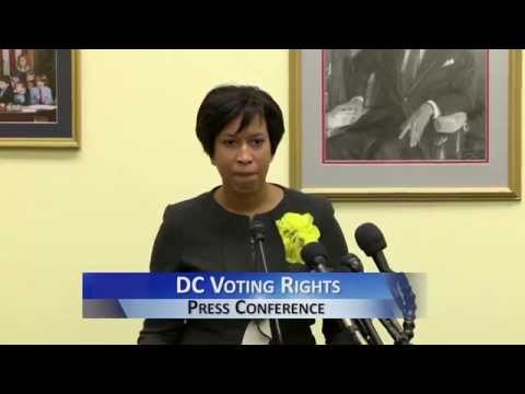 Rep. Norton & Mayor Bowser Call For DC Voting Rights, 1/5/15