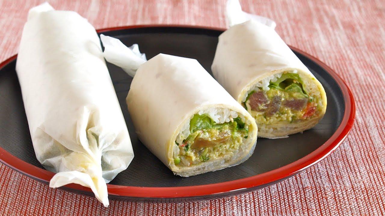 How to Make Sushi Burrito (Recipe) 恵方巻きの代わりに!?寿司ブリトーの作り方 ...