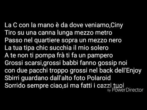 [Lyrics] Ciny-Sfera Ebbasta