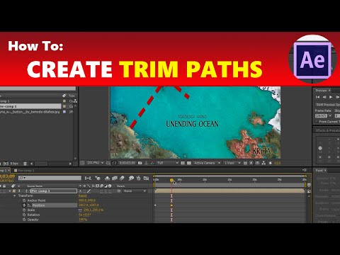 How To: Create Trim Paths (Animated Map Travel Effect)