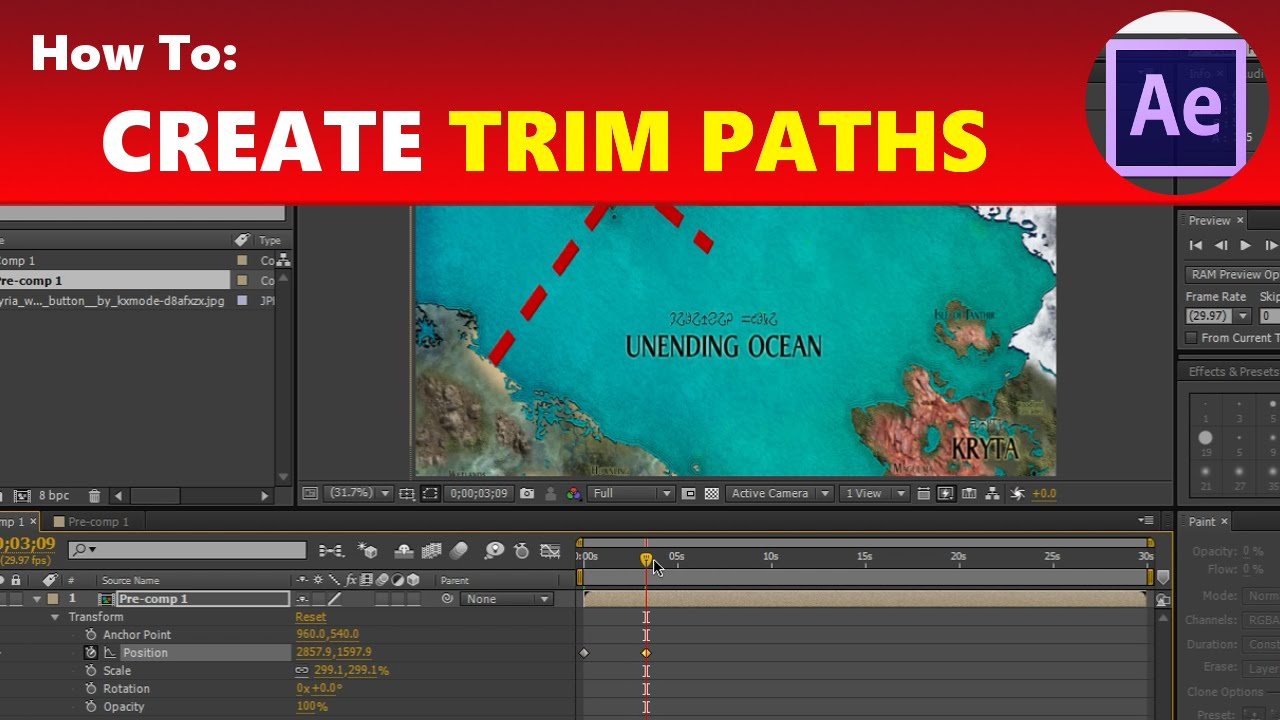 how to create trim paths animated map travel effect youtube
