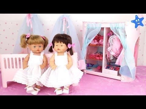 Muñecas bebes Nenuco Ani y Ona ESTRENAN CUARTO y ARMARIO NUEVO Ksi Bebés