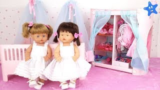 Muñecas bebes Nenuco Ani y Ona ESTRENAN CUARTO y ARMARIO NUEVO Ksi Bebés thumbnail