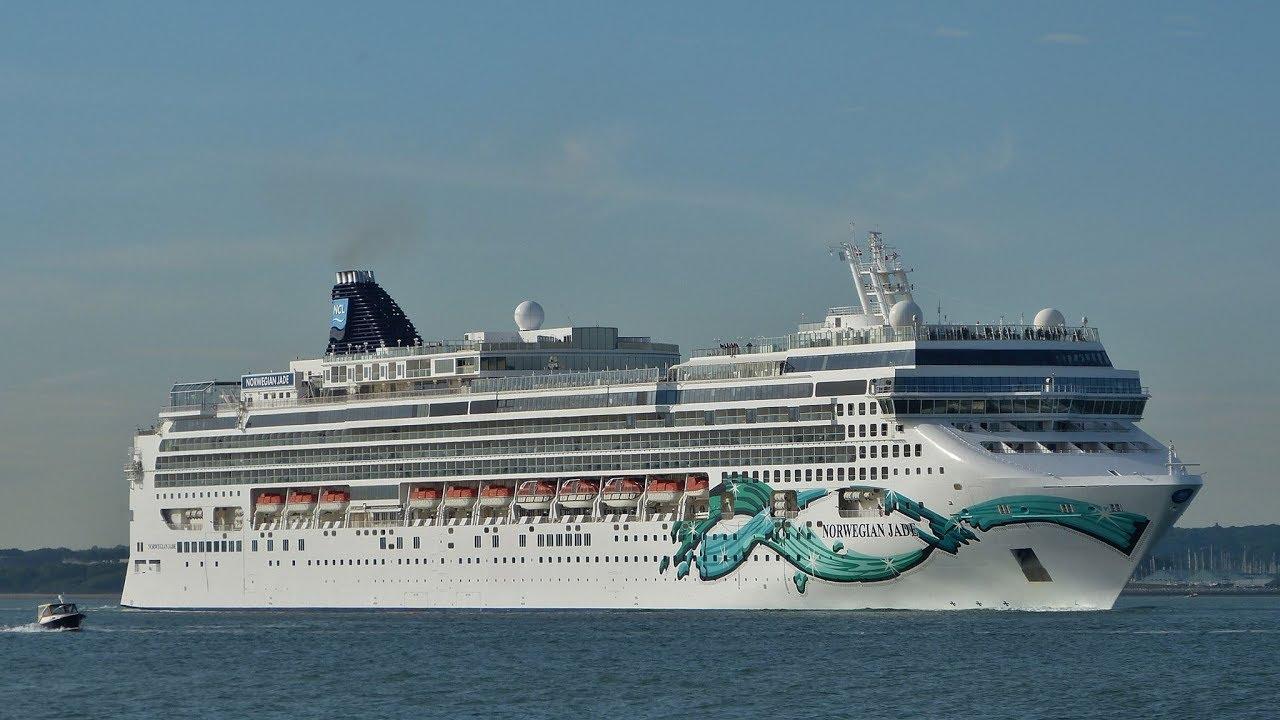 Cruise Ships Sailing Down Southampton Water 22 05 2017