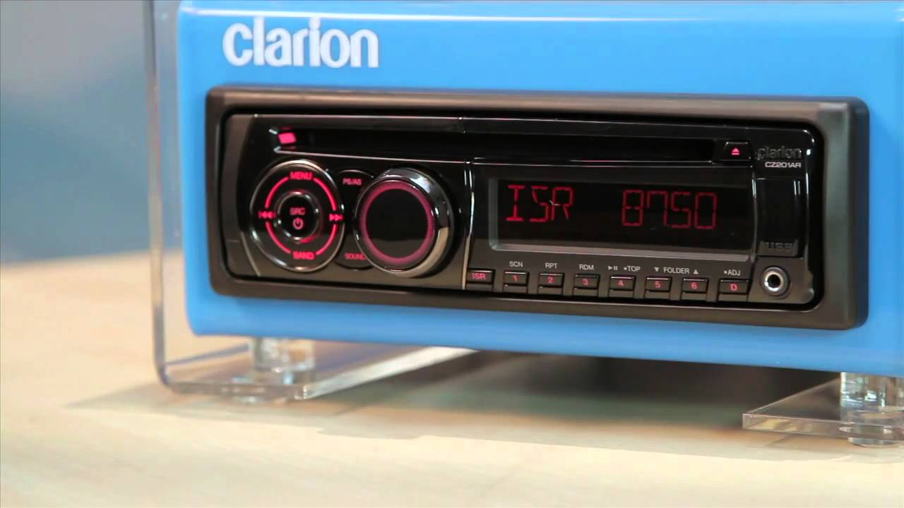 clarion cz201 2 front panel operations mov [ 1280 x 720 Pixel ]