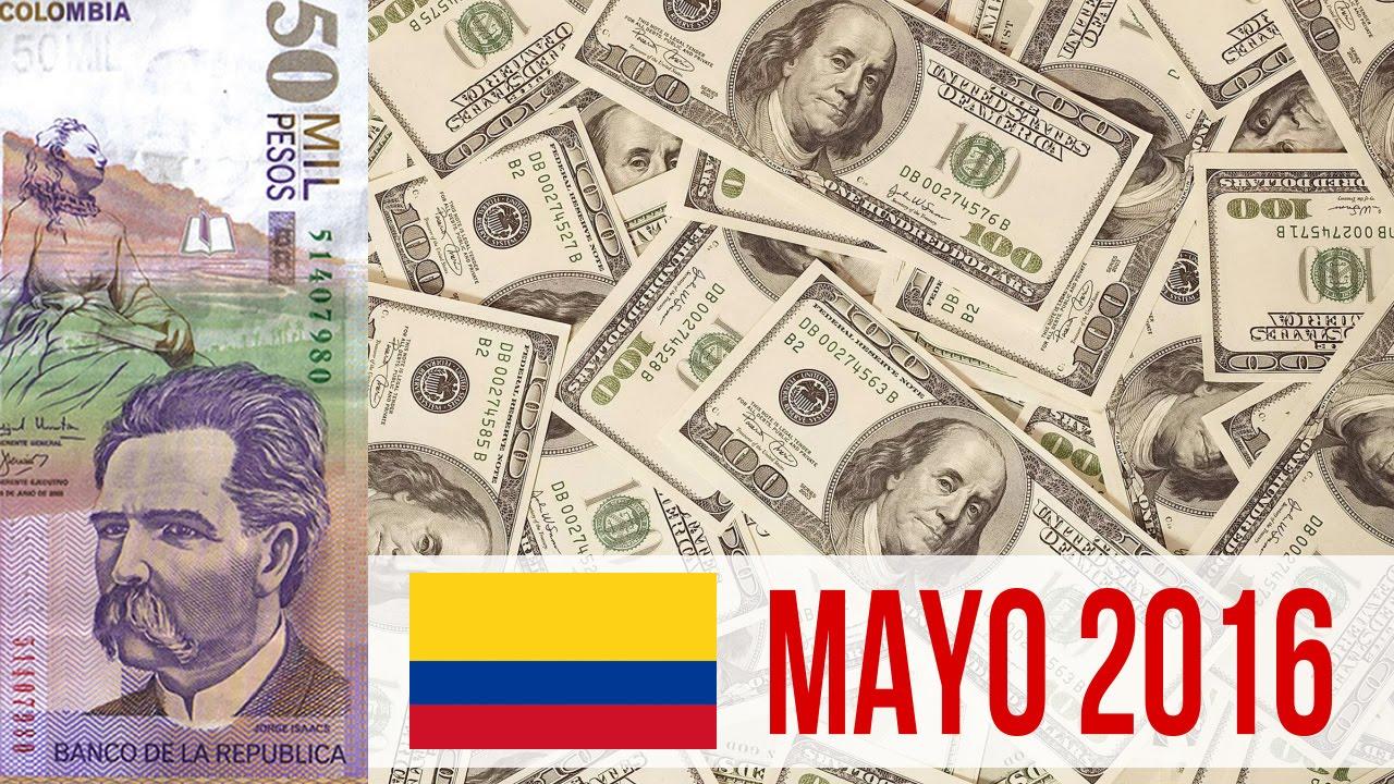 Mayo 2016 Dolar Vs Peso Colombiano