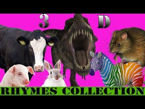 Finger Family Rhyme - BULL,COW,DEER,SHEEP,RABIT  Version | Funny  Children Poems In 3D