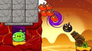 Angry Birds Cannon Collection 3 - BLAST THE PIGGIES INSIDE GIANT STONE!!