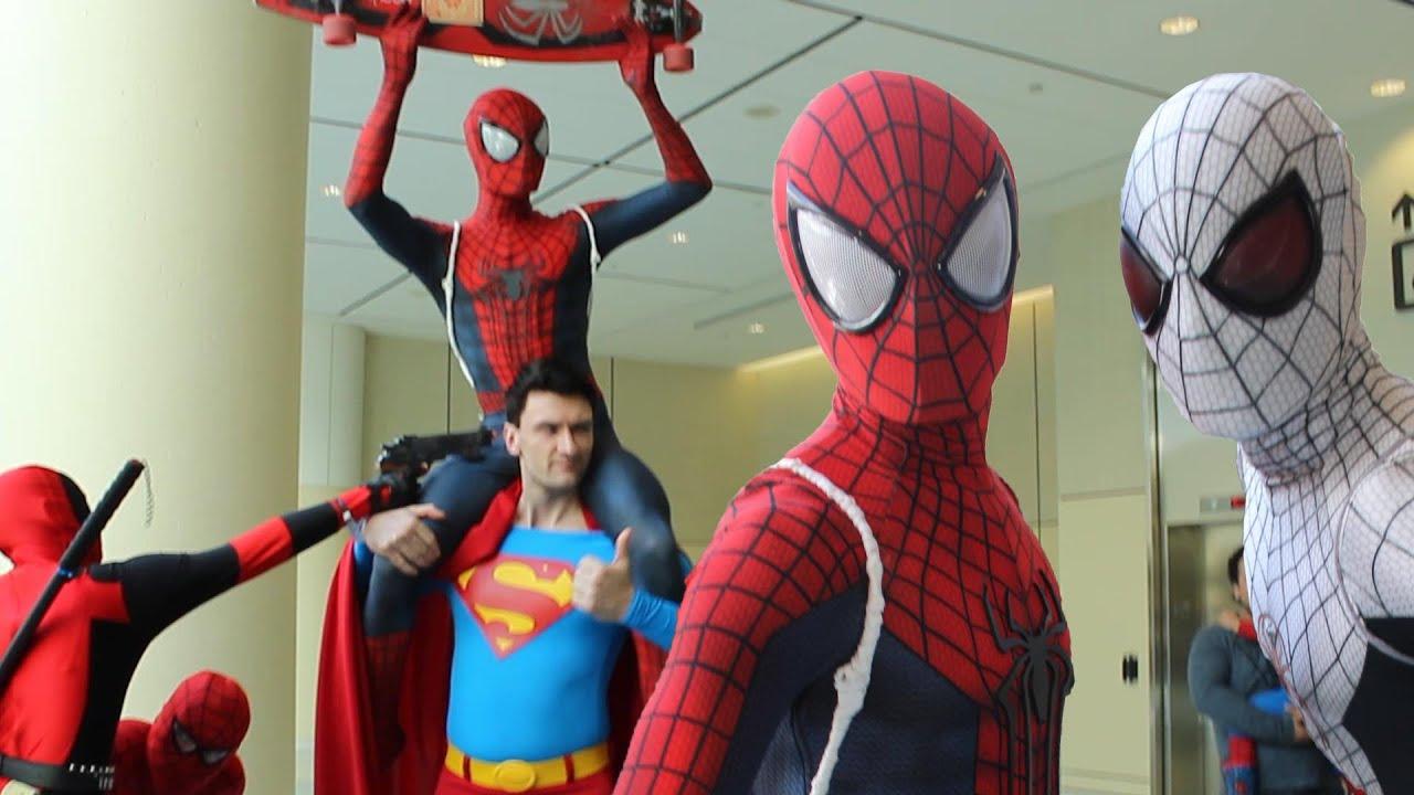 spider man spider verse comic con invasion