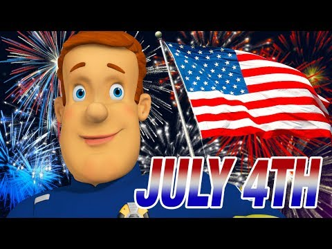 Fireman Sam Us NEW Episodes   FIREWORKS!   4th July Safety Collection   Cartoons for Children