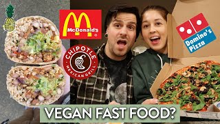 Eating VEGAN Fast Food For 24 Hours Challenge #6