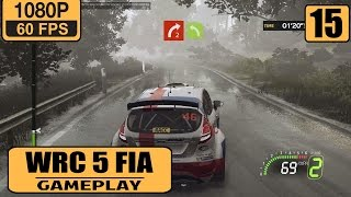 WRC 5 FIA World Rally Championship gameplay walkthrough Part 15 - Heavy Rain