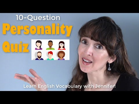 What kind of person are you? ??Take a quiz! English Vocabulary with Jennifer
