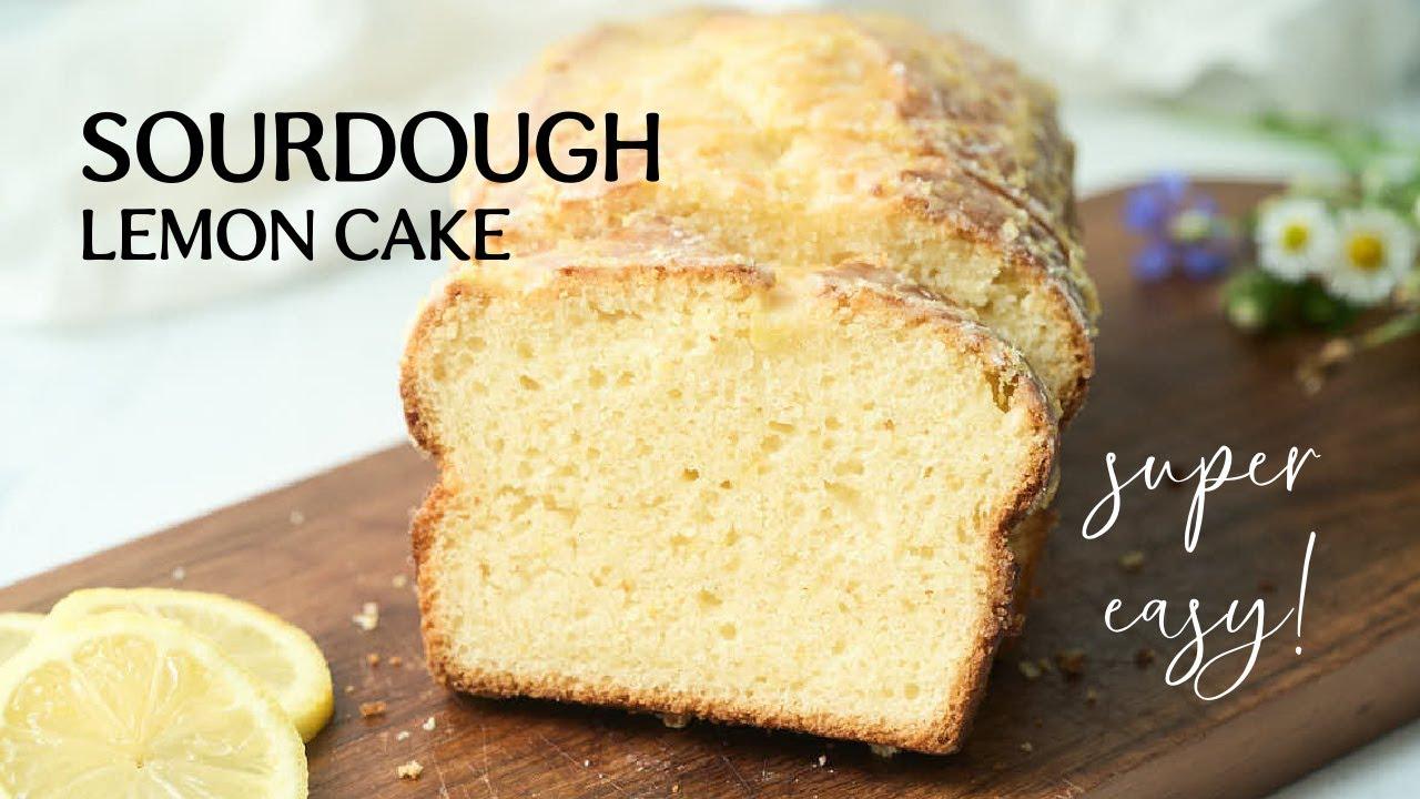 Glazed Sourdough Lemon Cake (BEST Sourdough Discard Recipe)