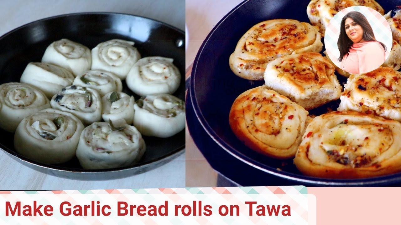 how to make garlic bread on tawa