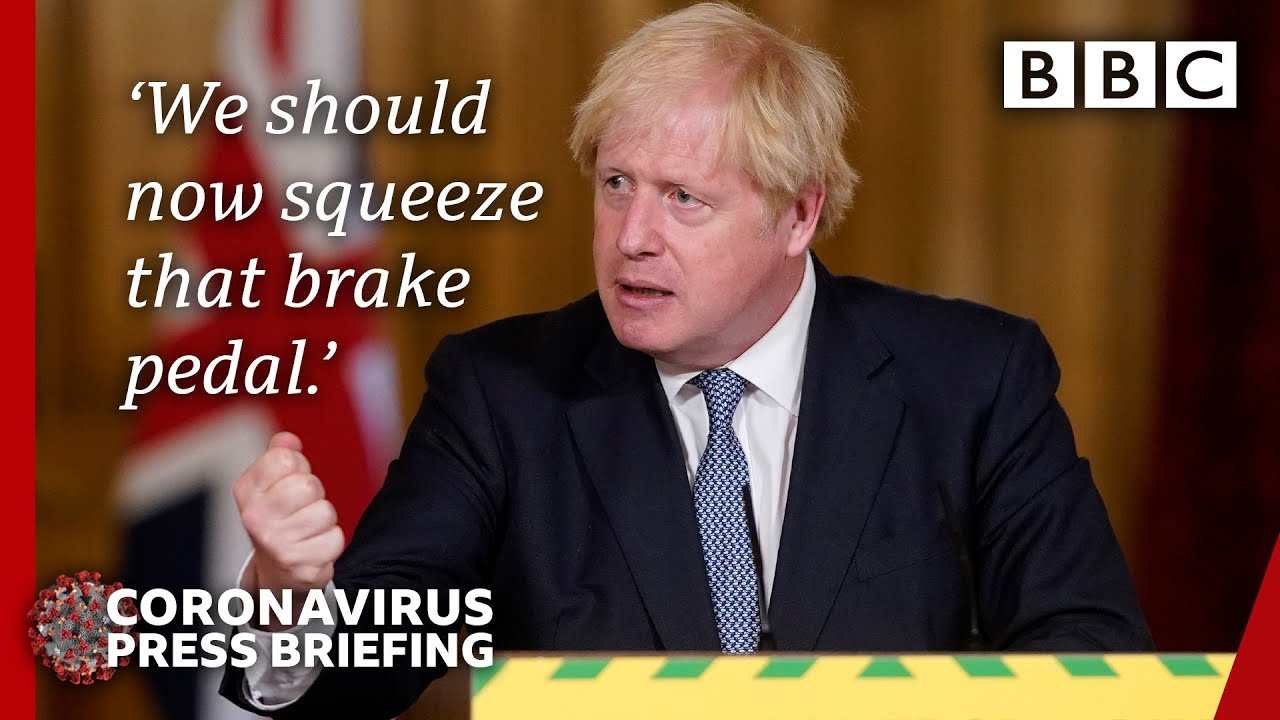 Boris Johnson halts plans to ease restrictions in England - Covid-19 Government Briefing ? - BBC