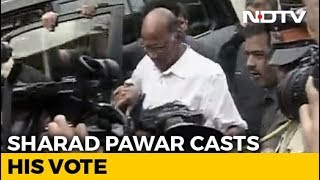 Maharashtra Elections 2019: Sharad Pawar Among Early Voters In Mumbai