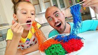 Nastya y papá - Funny stories para niños for kids | Compilation video Mi Mi Kids