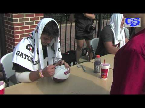 A Visit With AJ McCarron On Fan Day At Alabama