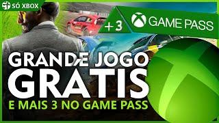 JOGO GRANDE de GRAÇA no XBOX ONE e MAIS 3 JOGOS vem pro XBOX GAME PASS em AGOSTO!