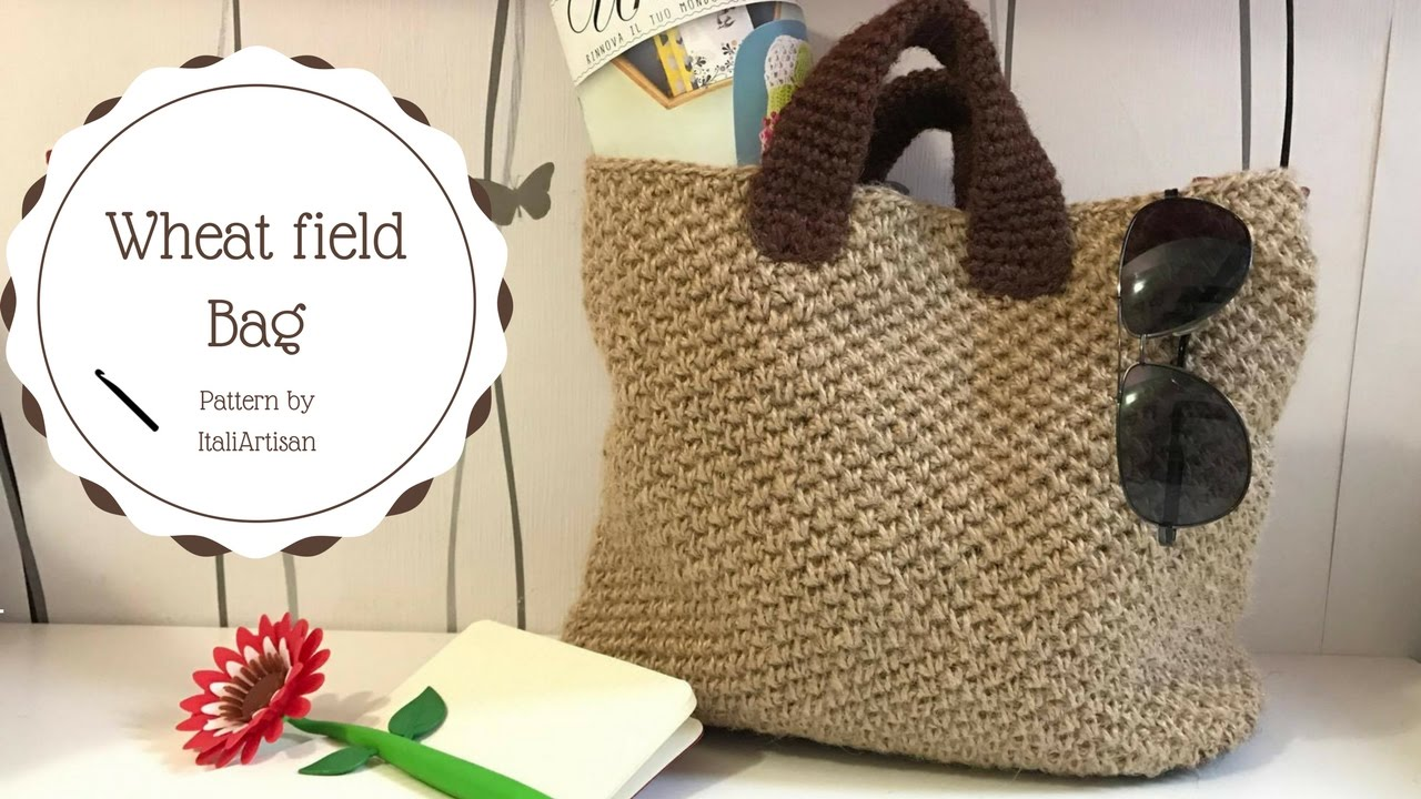 Wheat Field Bag Tutorial Uncinetto Borsa In Filato Di Canapa Hemp