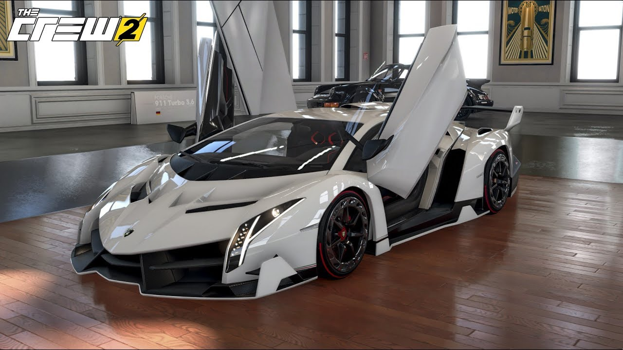 The Crew 2 Customization Lamborghini Veneno Test Drive In The Open