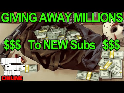 🔴LIVE🔴 GTA 5 Giving Away MILLIONS To NEW Subs (85% Heist Giveaway) #gta5