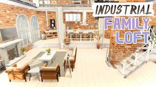 PLATFORM INDUSTRIAL FAMILY LUXURY LOFT ~ Sims 4 Speed Build with Industrial Loft Kit (No CC)