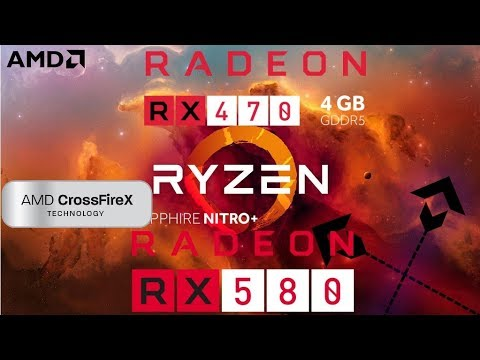 RX 580 + RX 470 Crossfire/mGPU Benchmark.