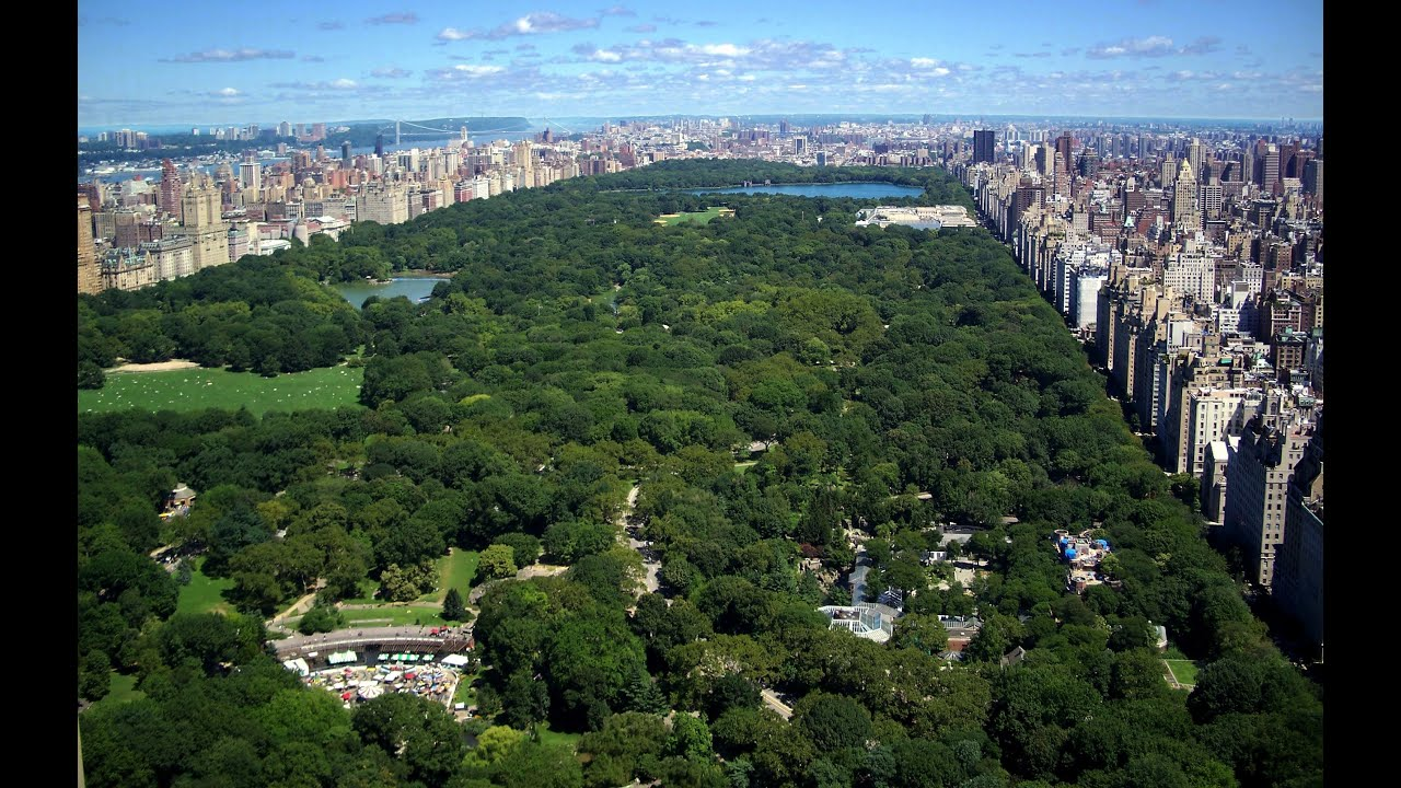 Landscape Of Central Park Manhattan York Usa