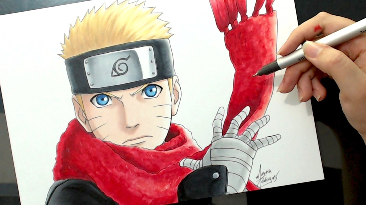 speed drawing uzumaki naruto the last naruto the